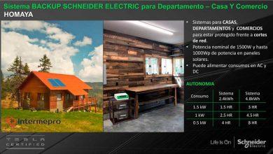 Backup Schneider Electric HOMAYA
